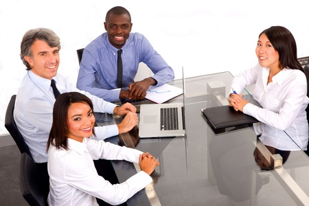 african business man: multi-ethnic team during a meeting