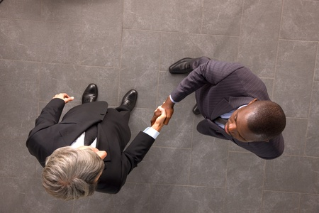 encounter: businessmen shaking hands