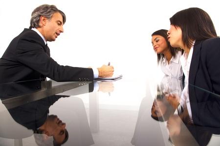 chinese businessman: working meeting