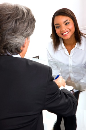 sitted: job interview Stock Photo