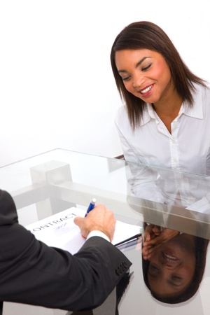 interview job: entrevista de trabajo Foto de archivo