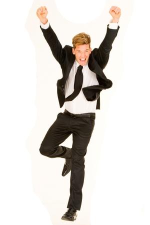 businessman rejoices photo