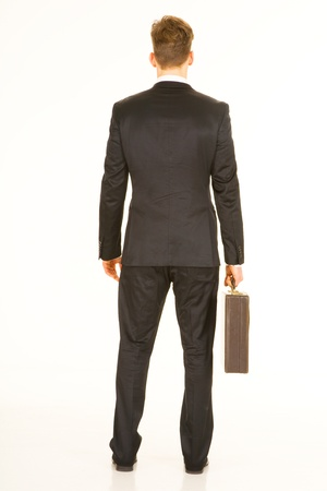 business briefcase: businessman with briefcase