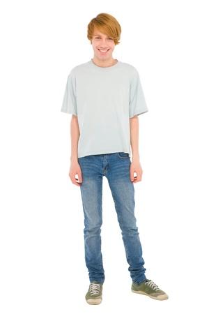 full teenage boy standing Standard-Bild