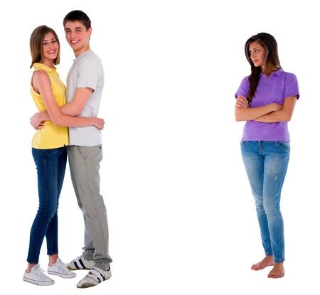 celos: adolescente celosa