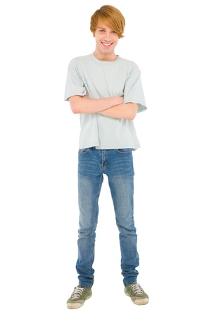 teenage boy: full teenage boy standing Stock Photo