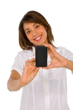 fille arabe: adolescente avec le smartphone