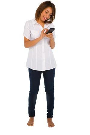 teenage girl with smartphone Stock Photo - 15335321