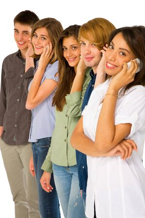 fille arabe: adolescents avec le smartphone