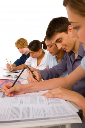 schoolmate: teenagers in classroom