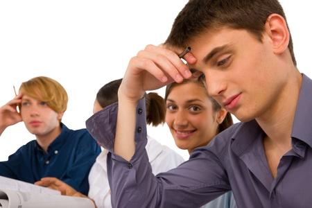sat: teenagers in classroom