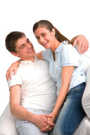 teen couple: couple of teenagers