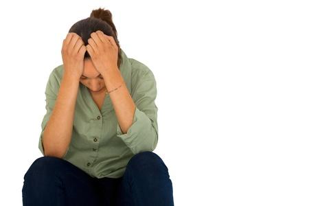 violencia intrafamiliar: chica triste