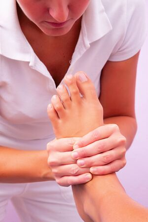 physiotherapy foot reflexology photo