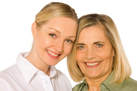 mother and doughter adult young photo