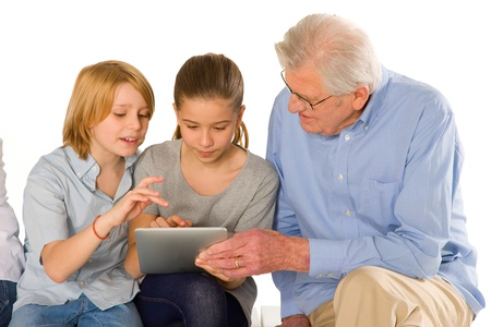 family using pc tablet Stock Photo - 20632861