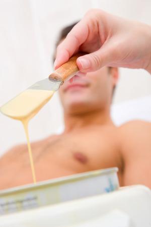 Hot wax treatment photo