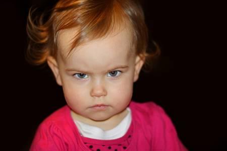 anger kid: girl