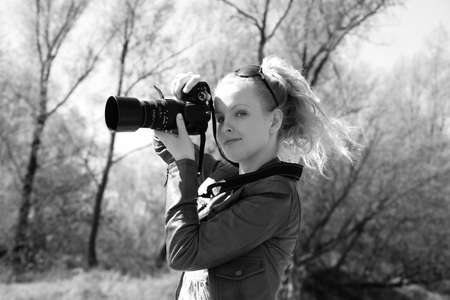 Girl with camera Stock Photo - 4755672