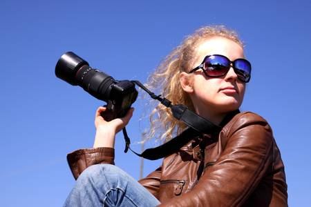 Girl with camera Stock Photo - 4755679