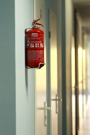 fire extinguishers: Fire extinguisher Stock Photo