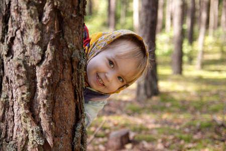 hides: Autumn girl Stock Photo