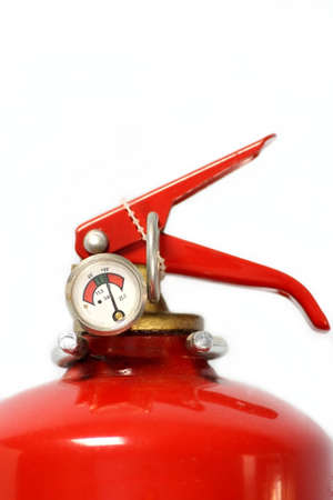 Fire extinguisher on white background photo