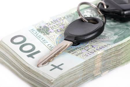Polish currency and car keys