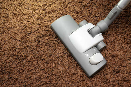 vacuuming the carpet in the house Stock Photo - 10171192