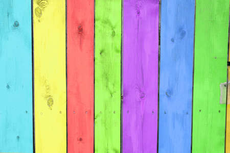 Colorful background with wooden planks photo
