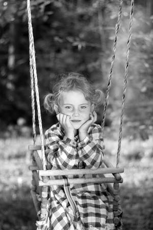 Fun on a swing Stock Photo - 10771173