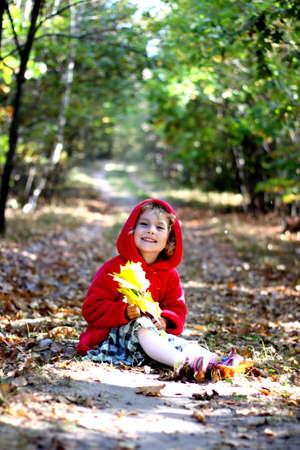 Autumn girl photo