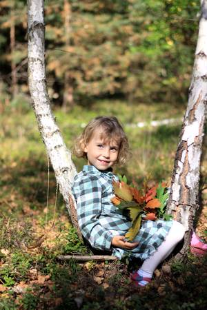 Autumn little girl  photo