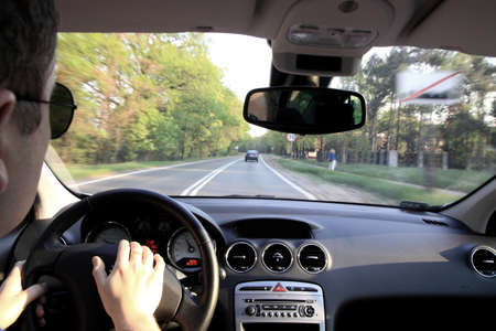 traveling by car on a sunny day Stock Photo - 13739809