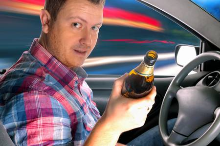 Danger on the road caused by drunken drivers photo