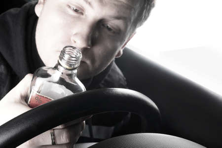 inattention: drunk driver