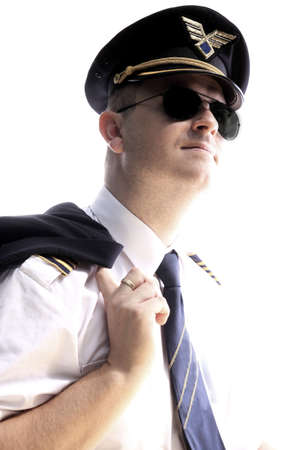 epaulets: The pilot of the aircraft on a white background