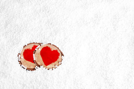 Two red hearts - valentine photo