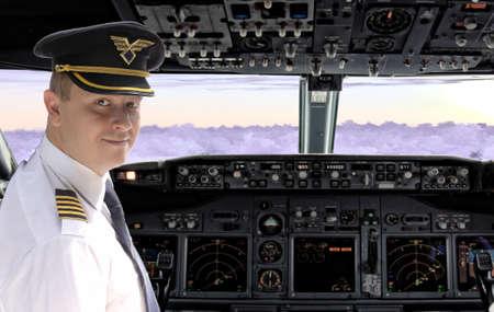 Pilote dans le cockpit