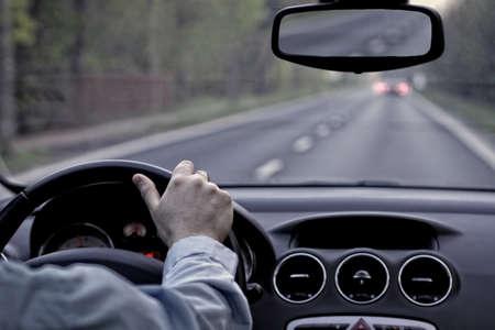 borracho: Conducir un coche en sctreet vacío