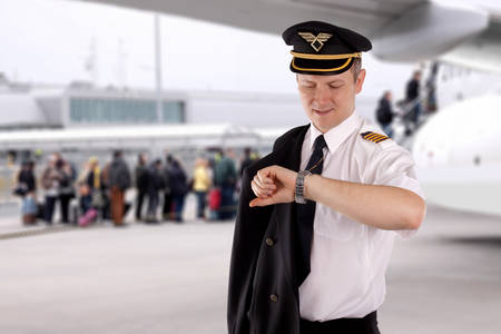 epaulets: Captain waiting for the departure