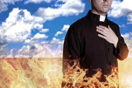 反省 - 地獄か天国 写真素材