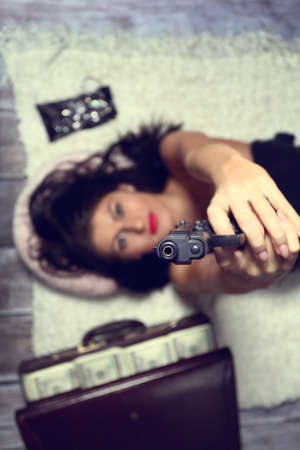 gangster girl: Bad girl I aim the gun at the victim