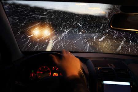 Havy winter on the road