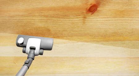 saprophyte: Vacuuming wooden flor