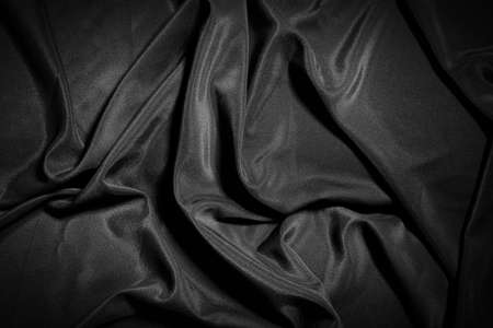 black satin: Soft and delicate texture of satin Stock Photo