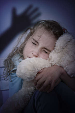 domestic violence - battered child photo