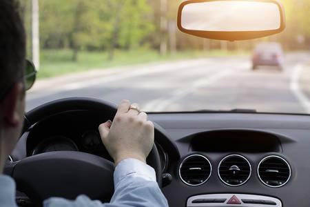 Driving a car photo