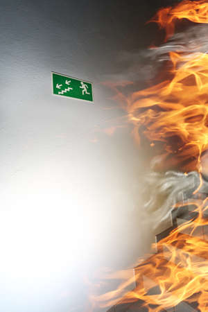 fire exit sign: Emergency exit