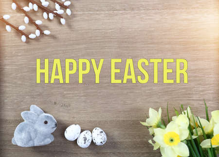 Happy Easter greetings card photo